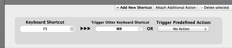 BetterTouchTool にショートカットキーを設定